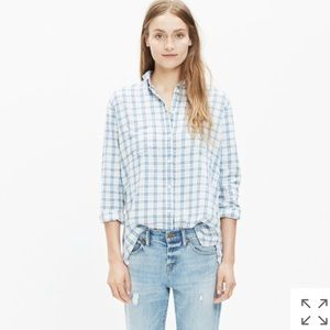 Madewell Flannel Oversized Boyshirt / Benton Plaid